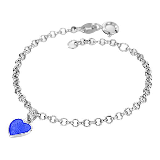 Image of Armbånd, blåt hjerte - Pia & Per (3247)