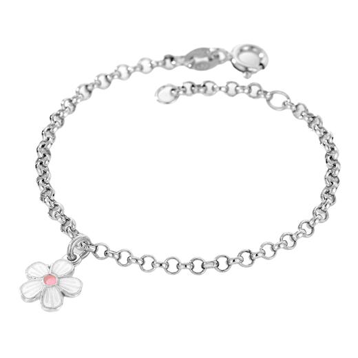 Image of Armbånd, hvid blomst - Pia & Per (3240)