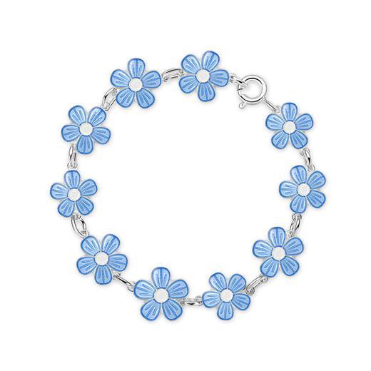 Image of Armbånd med lyseblå blomster - Pia & Per (3037)