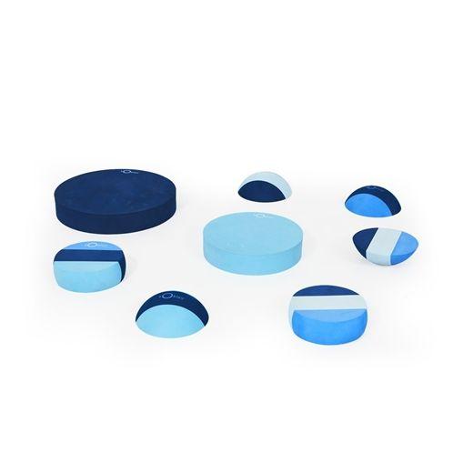 Image of   Blandede tumlesten, multi blå - bObles