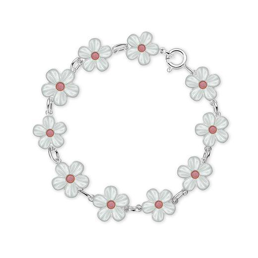 Image of Armbånd med hvide blomster - Pia & Per (2335)