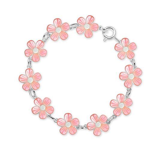 Image of Armbånd med lyserøde blomster - Pia & Per (2334)