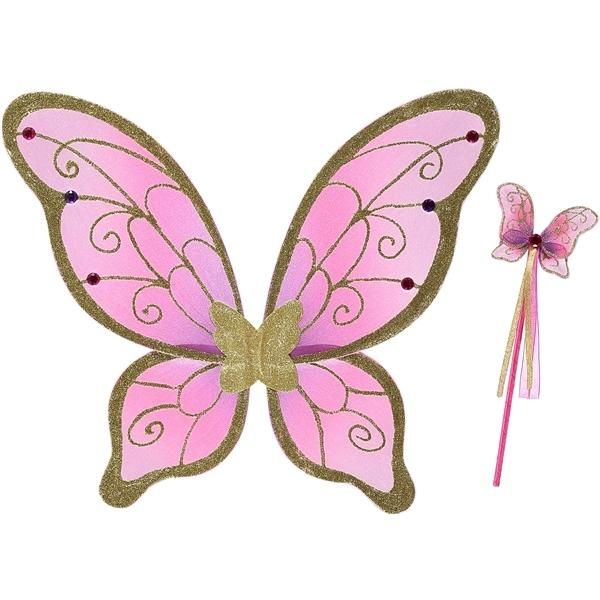 Billede af Cerise/Gold wings and wand - Travis Designs