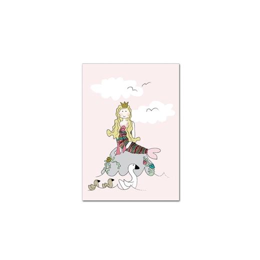 Image of   Kort, Den lille havfrue i farver - KIDS by FRIIS