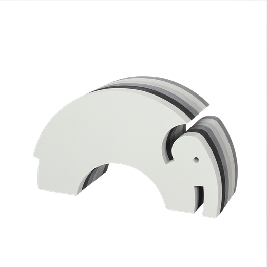 Image of Elefant, multi grå - bObles (2874)