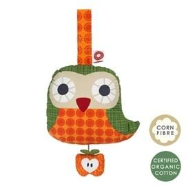 Else orange owl musical toy - Franck & Fischer