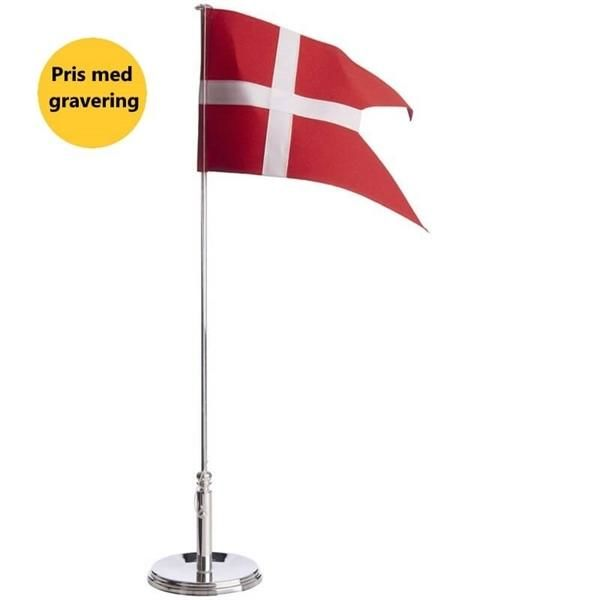Bordflag med gravering
