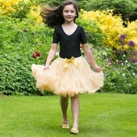 Frothy TUTU skirt, gold - Travis Designs
