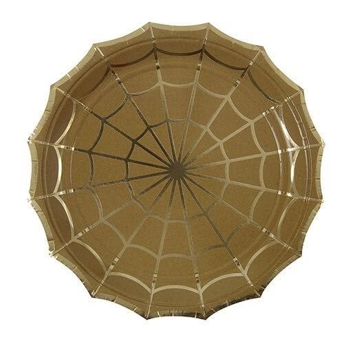 Billede af Halloween tallerken, stor, 8 stk. - Meri Meri