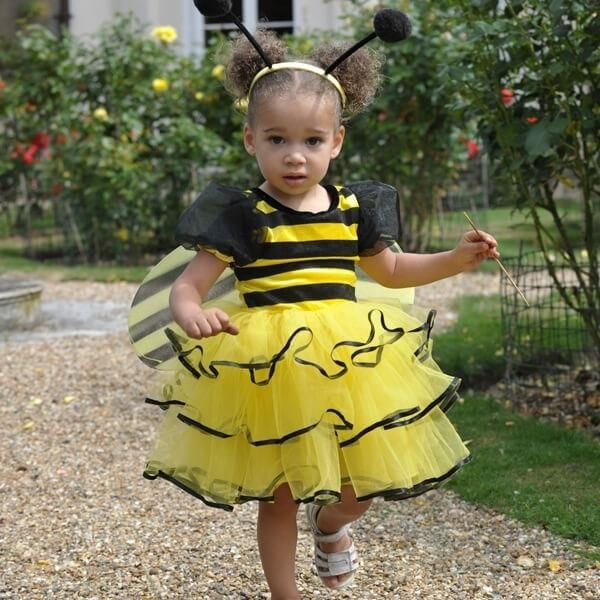 Billede af Humlebi kostume til børn, udklædningstøj 3-5 år - Travis Designs