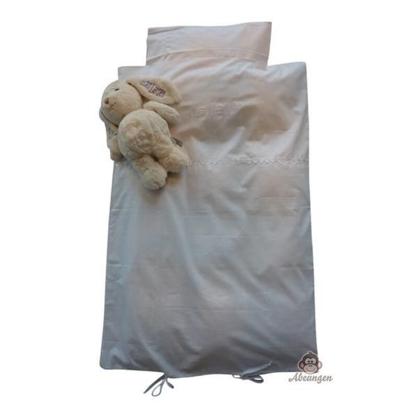 Hvid med elefanter, baby sengesæt - Nørgaard Madsen
