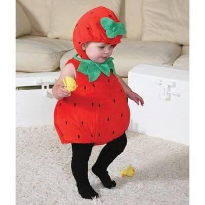 Billede af Jordbær kostume til baby, 6 - 12 mdr. - Travis Designs