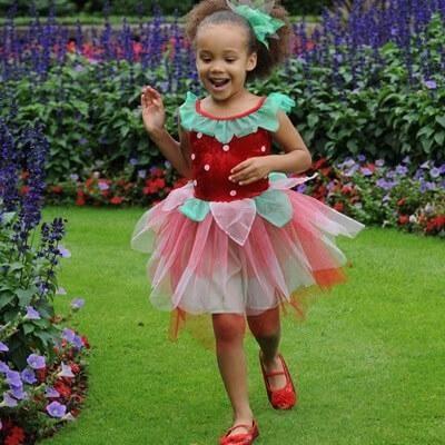 Billede af Jordbær kostume til børn, udklædningstøj 2-3 år - Travis Designs