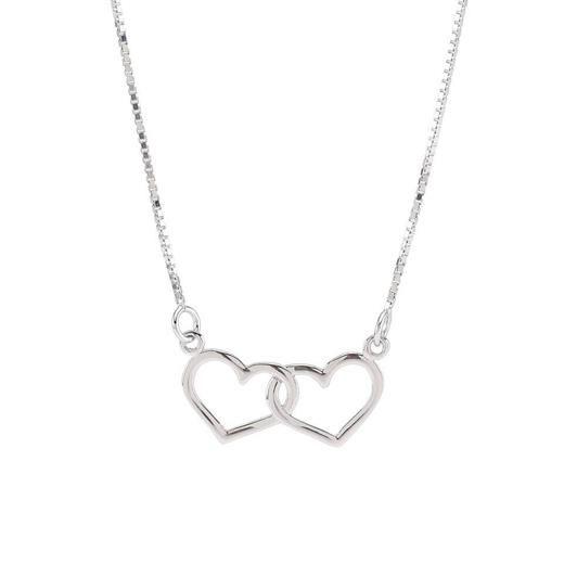 Image of Mor og barn kæde med hjerter, sølv - Siersbøl (2461)