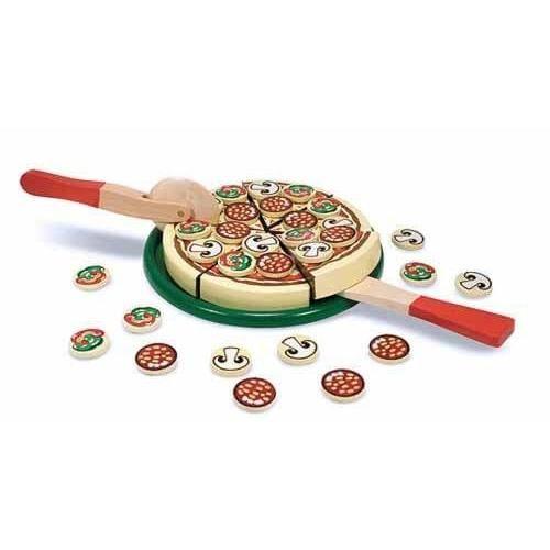 Billede af Pizza af træ med 63 dele - Melissa & Doug