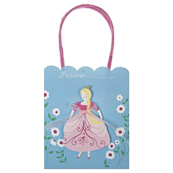 Image of   Prinsesse party bag, 8 stk. - Meri Meri
