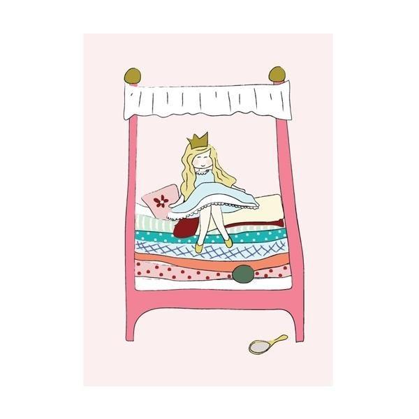 Image of   Prinsessen på ærten, plakat i farver - KIDS by FRIIS