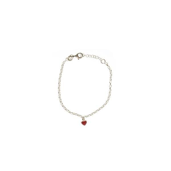 Billede af Sølv armbånd med et rødt hjerte - Nordahl Andersen