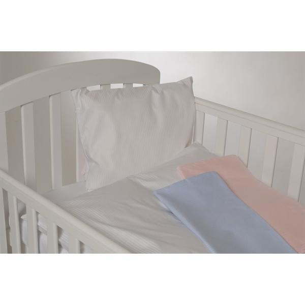 Stribet blå, baby sengesæt - Nørgaard Madsen