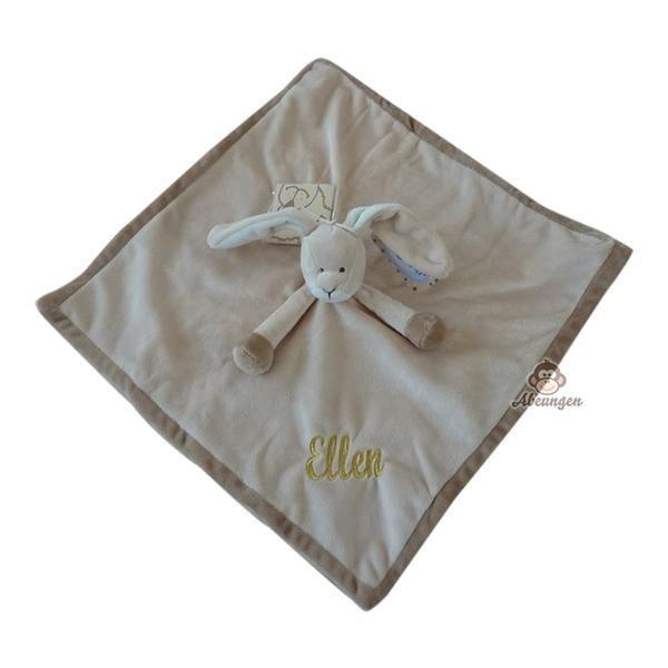 Billede af Sutteklud kanin med navn - gaver med navn