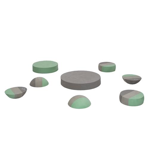 Image of   Blandede tumlesten, grå - bObles